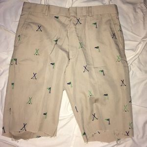Vintage 1960s Brooks Brothers embroidered shorts